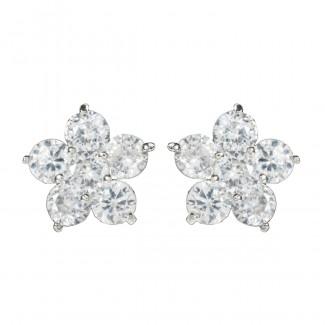 Camellia CZ Earring