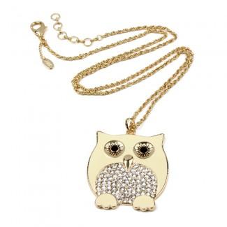 Chubby Owl Pendant Ivory