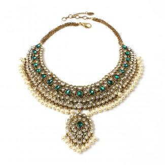 Heena Necklace Emerald