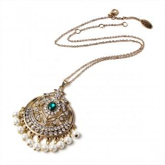 Gayatri Pendant Emerald/Gold