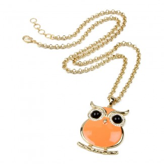 Miami Owl Pendant Orange