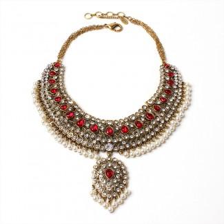 Heena Necklace Ruby
