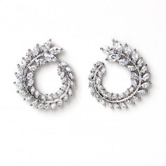 CZ Spiral Studs Silver/Clear