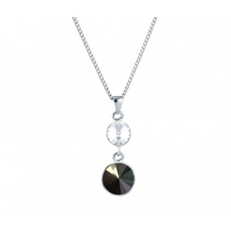 Allure Pendant in Black, Embellished with Crystals from Swarovski®