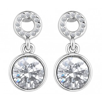 Angelic Drop Earrings, Embellished with Crystals from Swarovski®