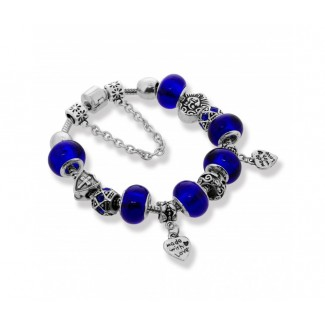 Ava Bracelet in Blue Embellished with Crystals from Swarovski®
