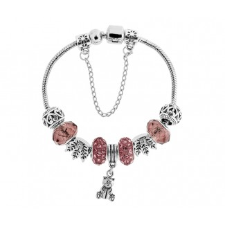 Ava Bracelet in Dusty Pink Embellished with Crystals from Swarovski®