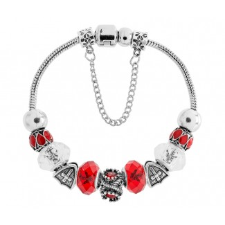 Ava Bracelet in Red Embellished with Crystals from Swarovski®