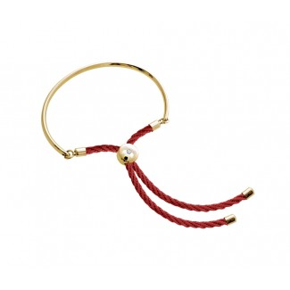 Bali Bracelet in 14k Gold with Red, Embellished with Crystals from Swarovski®