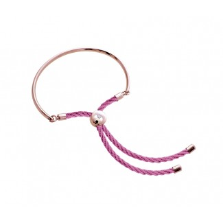 Bali Bracelet in Rose Gold with Pink, Embellished with Crystals from Swarovski®