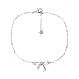 Bow Bracelet, Embellished with Crystals from Swarovski®