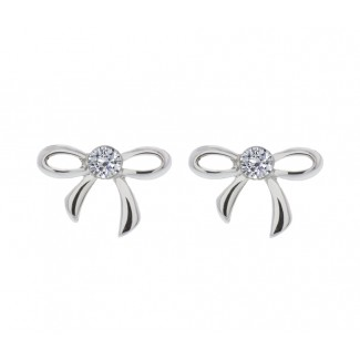 Bow Earrings, Embellished with Crystals from Swarovski®