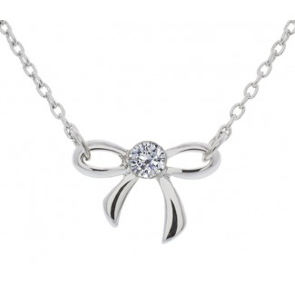 Bow Pendant, Embellished with Crystals from Swarovski®