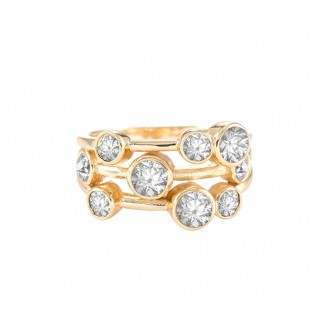 Cluster Ring in 14K Gold (Medium), Made with Swarovski Elements®