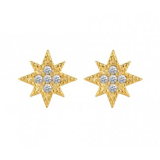 Cosmos Earrings in 14K Gold, Embellished with Crystals from Swarovski®