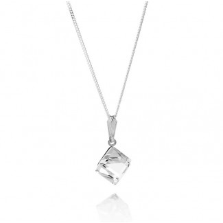 Cube Pendant, Embellished with Crystals from Swarovski®
