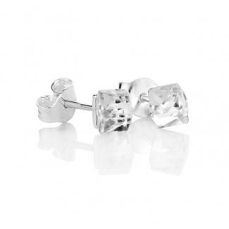 Cube Stud Earrings, Embellished with Crystals from Swarovski®