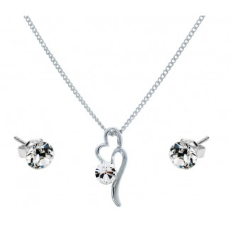 Desire Pendant and Solo Stud Earrings Set