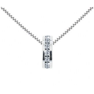 Domino Pendant, Embellished with Crystals from Swarovski®