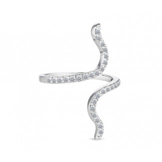Entwine Ring, Embellished with Crystals from Swarovski®