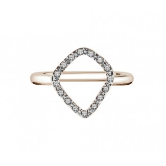 Fantasy Ring in Rose Gold Plate, Made with Swarovski Elements® (Medium)