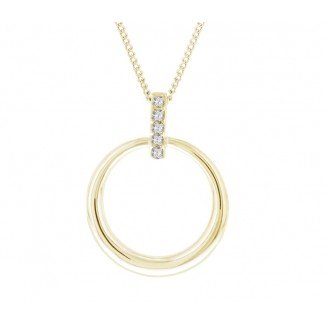 Horizon Pendant in 14K Gold Plating, Embellished with Crystals from Swarovski®