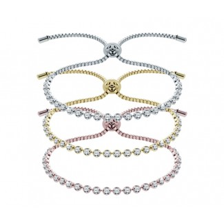 Indo Bracelet Mixed Metal Set, Embellished with Crystals from Swarovski®