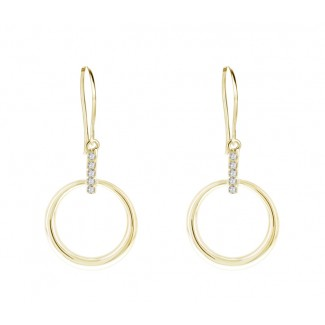 Horizon Earrings in 14K Gold Plating, Embellished with Crystals from Swarovski®