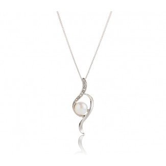 Freshwater Pearl Bow Pendant