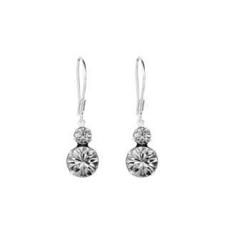 Duo Earrings, Embellished with Crystals from Swarovski®