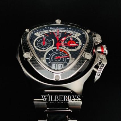 Men's Spyder 3019 Carbon Fiber Steel Chronograph Watch