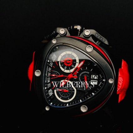 Men's Spyder 3018 Leather Chronograph Watch