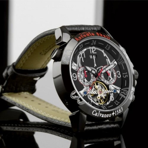 Men's Skull Black/Red Trim Limited Edition 500 Automatic Watch