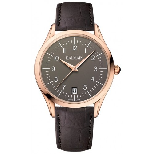 Classic R Gent Leather Brown Rose Gold