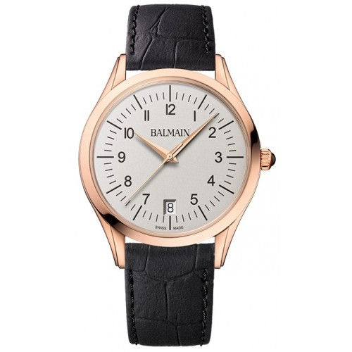 Classic R Gent Leather Black Rose Gold