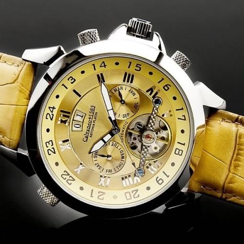 Men's Astonia Platin Whiskey Sunbrushed Automatikuhr Watch