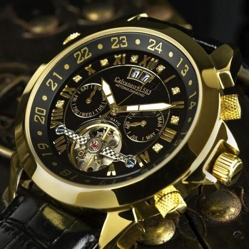 Astonia Diamond Black/Gold Automatic