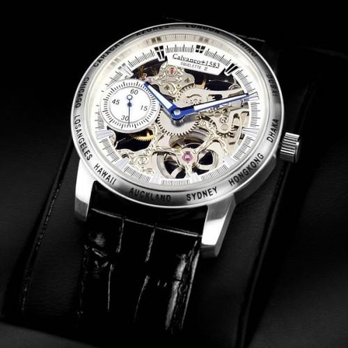 Men's Squelette II Platin Handaufzug (Mechanical) Watch