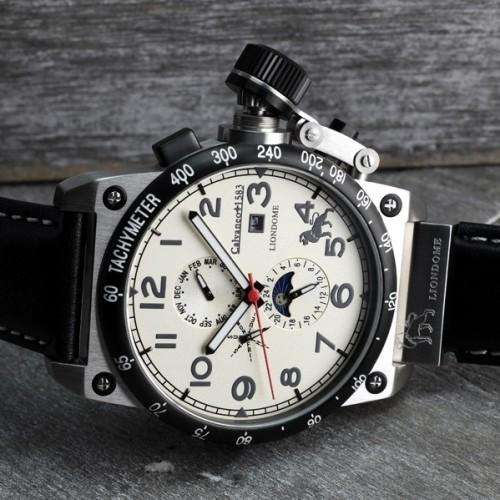 Liondome Steel Creme Calendar Automatic Watch