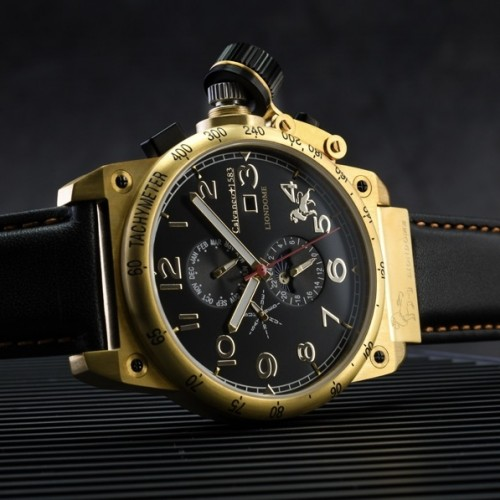 Liondome Steel Gold Plated Calendar Automatic Watch