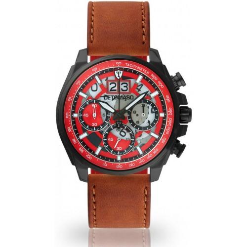 LIVELLO Black/Red Cuoio Leather