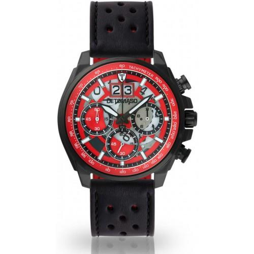 LIVELLO Black/Red Nero Leather