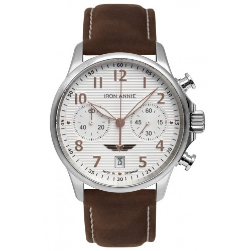 WELLBLECH Chronograph Twin Engine White/Brown