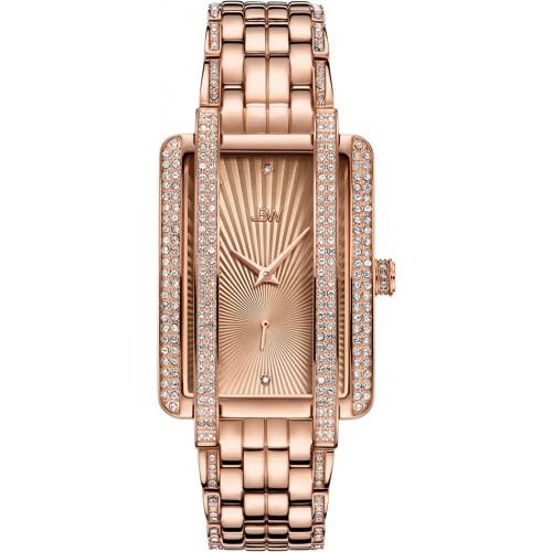 Women's Mink .12 ctw Diamond 18K Rose Gold-Plated Stainless Steel Watch J6358C