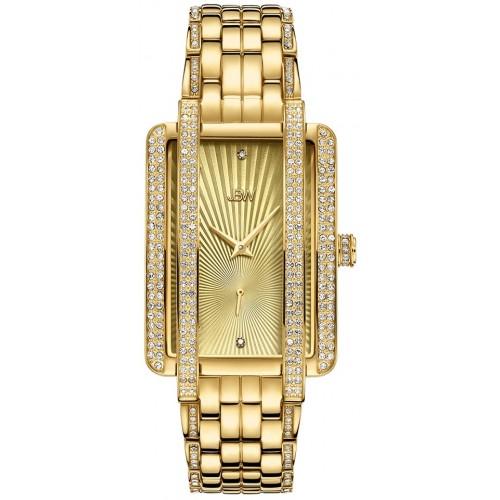Women's Mink .12 ctw Diamond 18K Gold-Plated Stainless Steel Watch