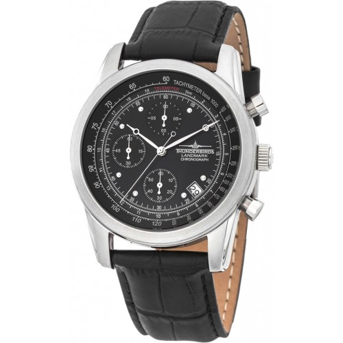 Landmark Chronograph Leather Black