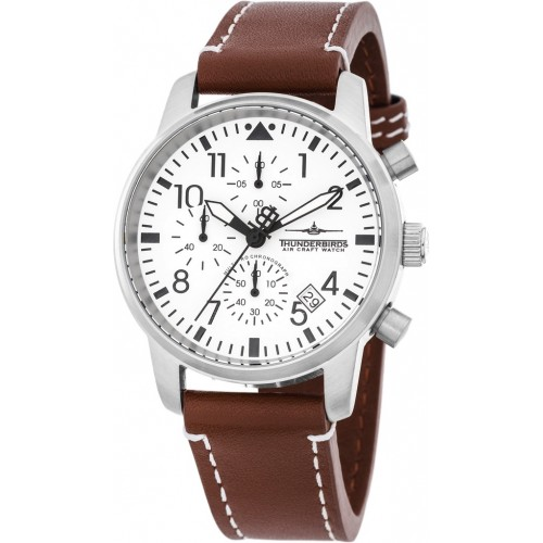 Huron Chronograph Silver/Brown
