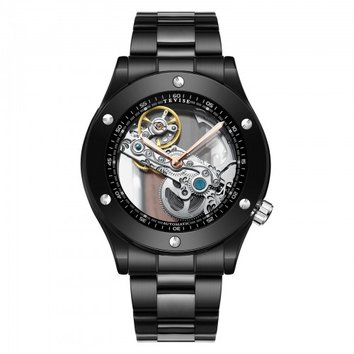 Aigon Hollow Automatic Steel Ionic Black