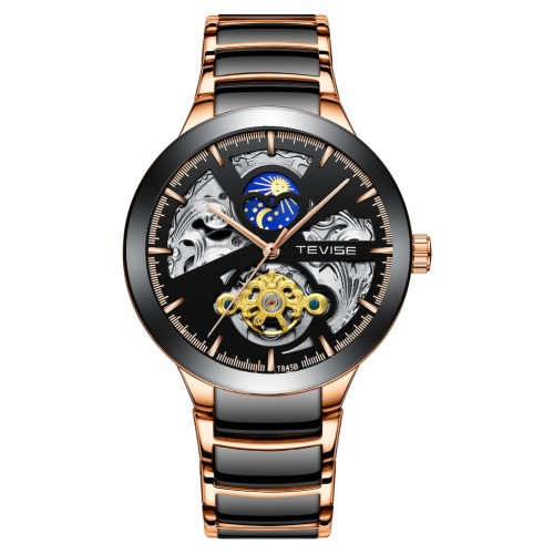 Constantine Automatic Moon Black/Rose Gold