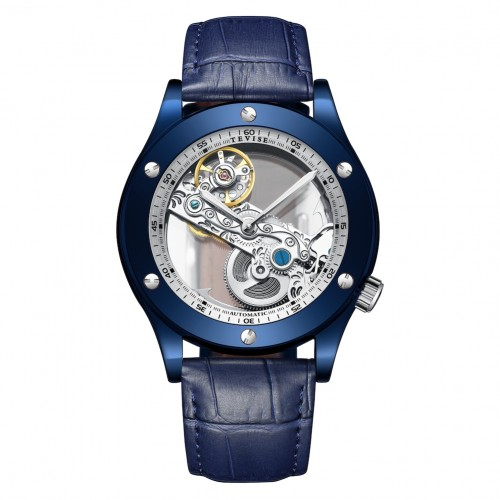 Aigon Hollow Automatic Leather Blue